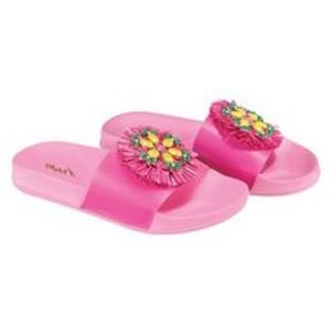mark. Sandals, gems, charms, pineapple, swimsuit